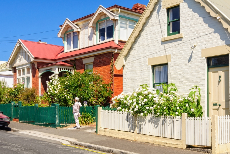 Kelly Street of the historic Battery Point suburb of Hobart