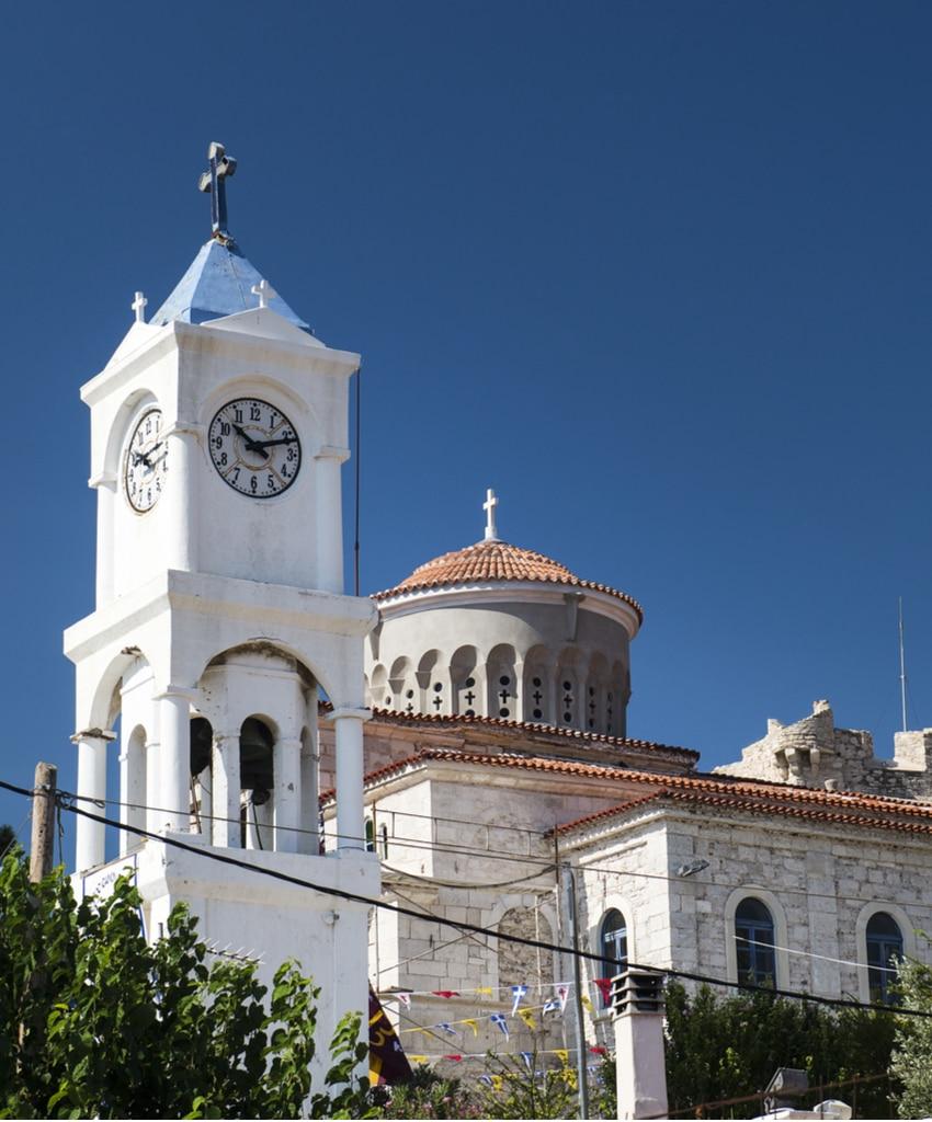 Metamorphosis Church in Samos island