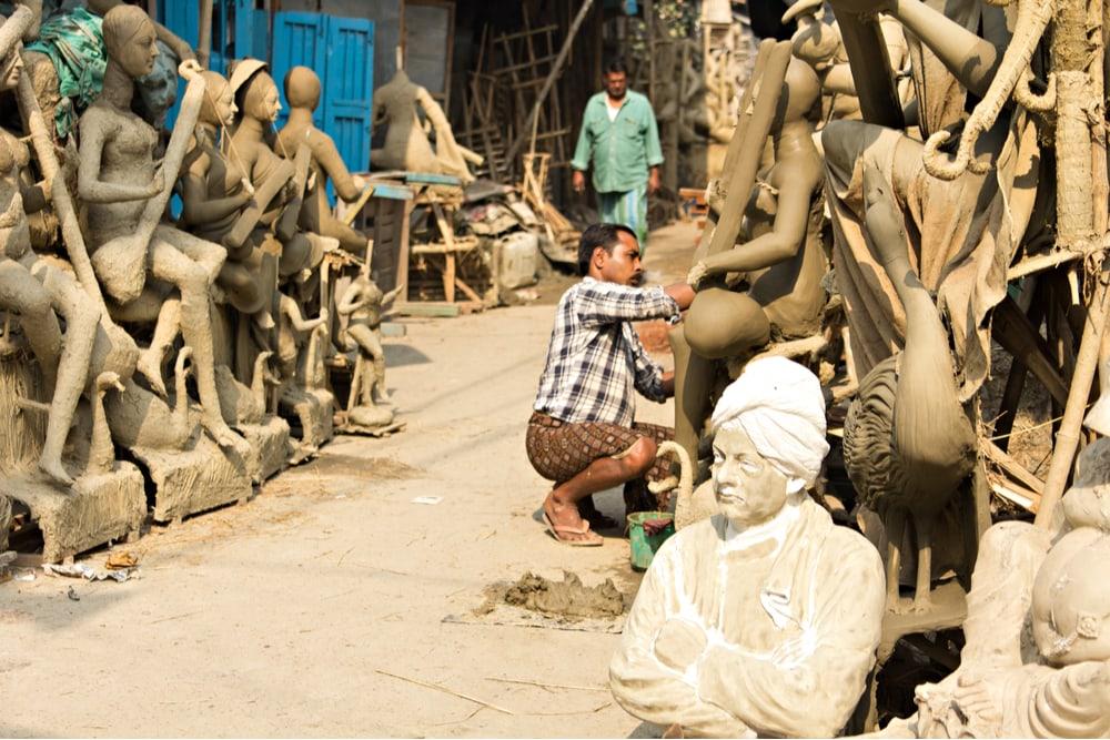 Mud Statues of Kumortuli