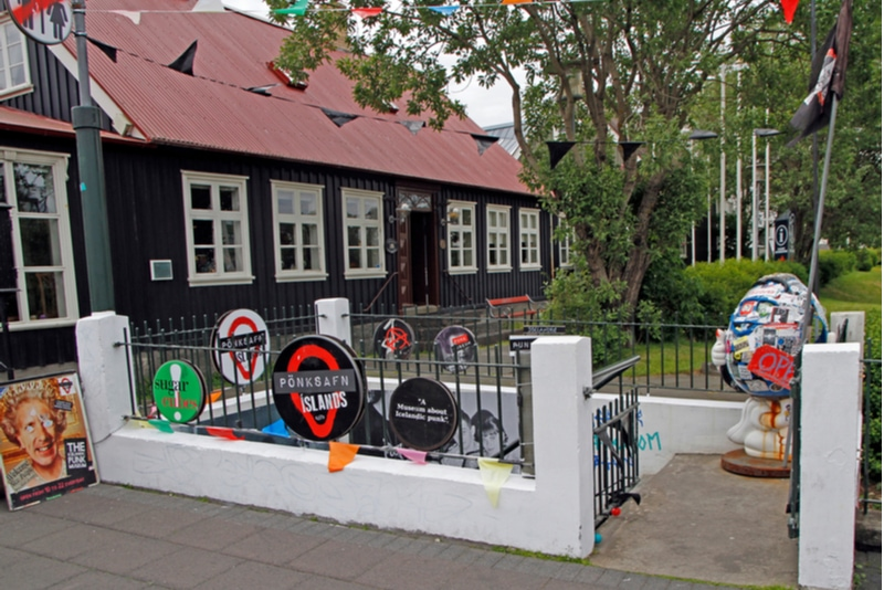entrance to punk museum in Reykjavik