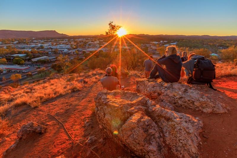 sunset at Anzac Hill