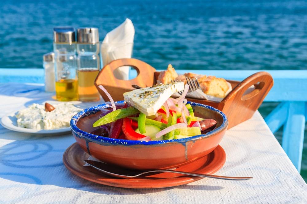grekisk sallad med utsikt