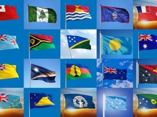 Oceaniens flaggor