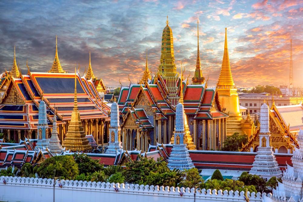 Grand Palace och Wat phra keaw